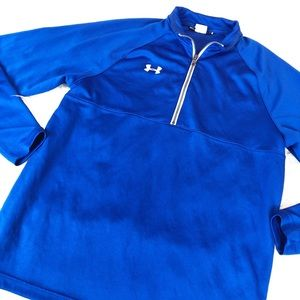 Under Armour Bright Blue Half Zip Pullover Top